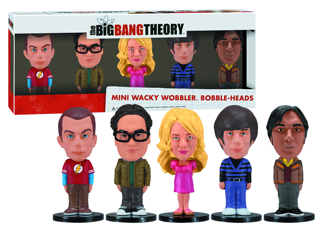 BIG BANG THEORY 5PC MINI WACKY WOBBLER SET