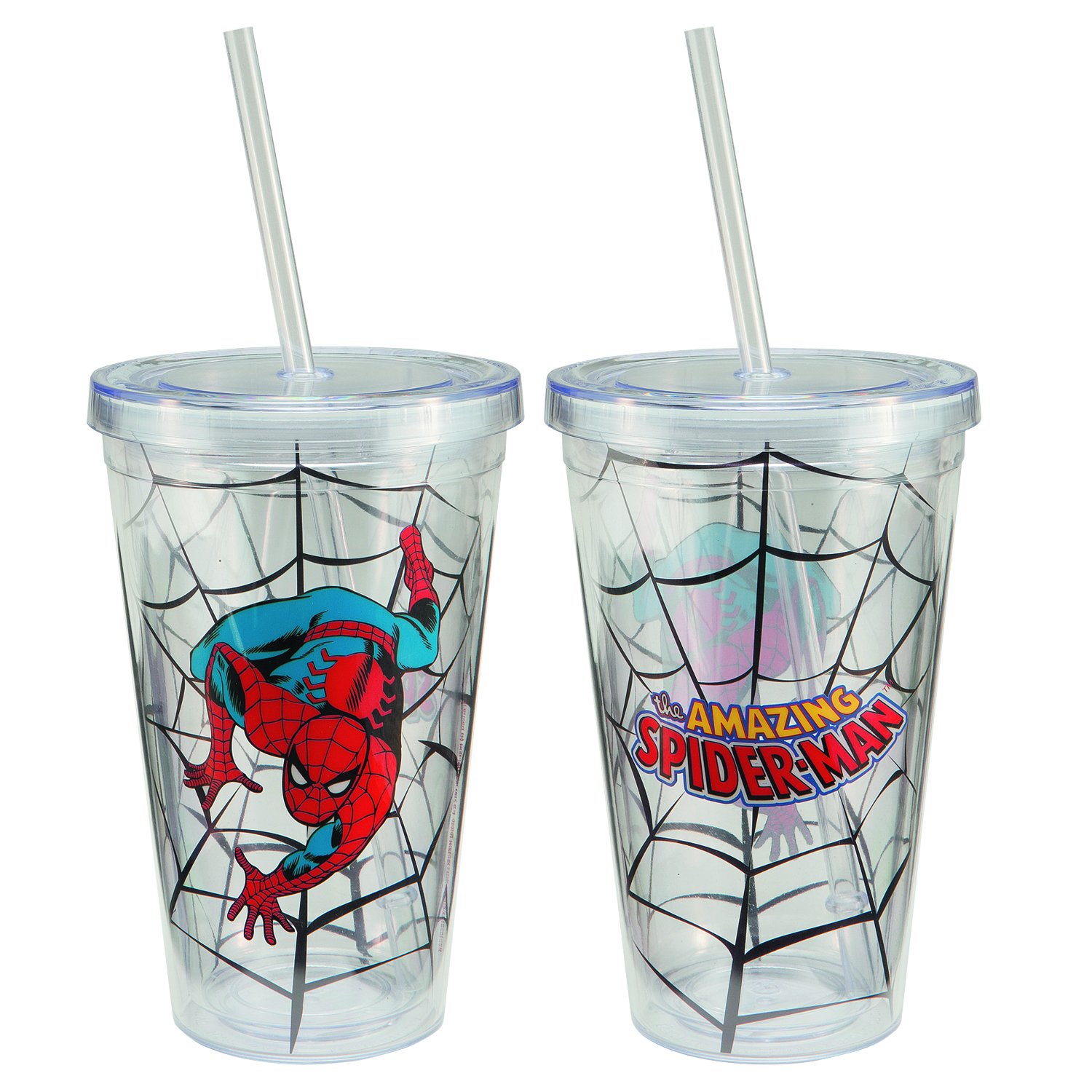 AMAZING SPIDER-MAN 18OZ ACRYLIC TRAVEL CUP