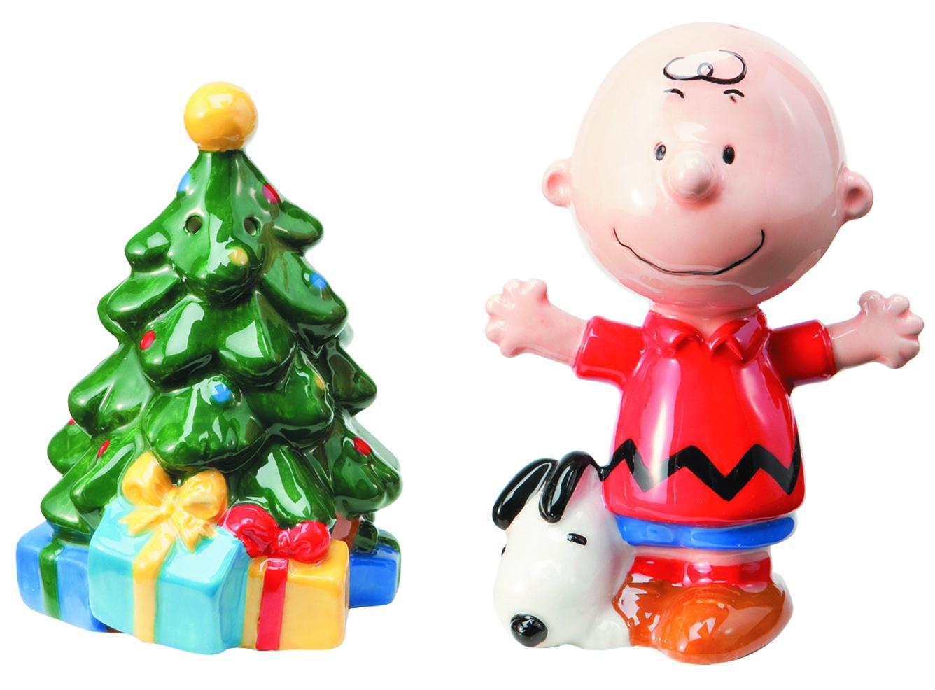 Peanuts Christmas Tree.Jul122067 Peanuts Christmas Tree Salt Pepper Set