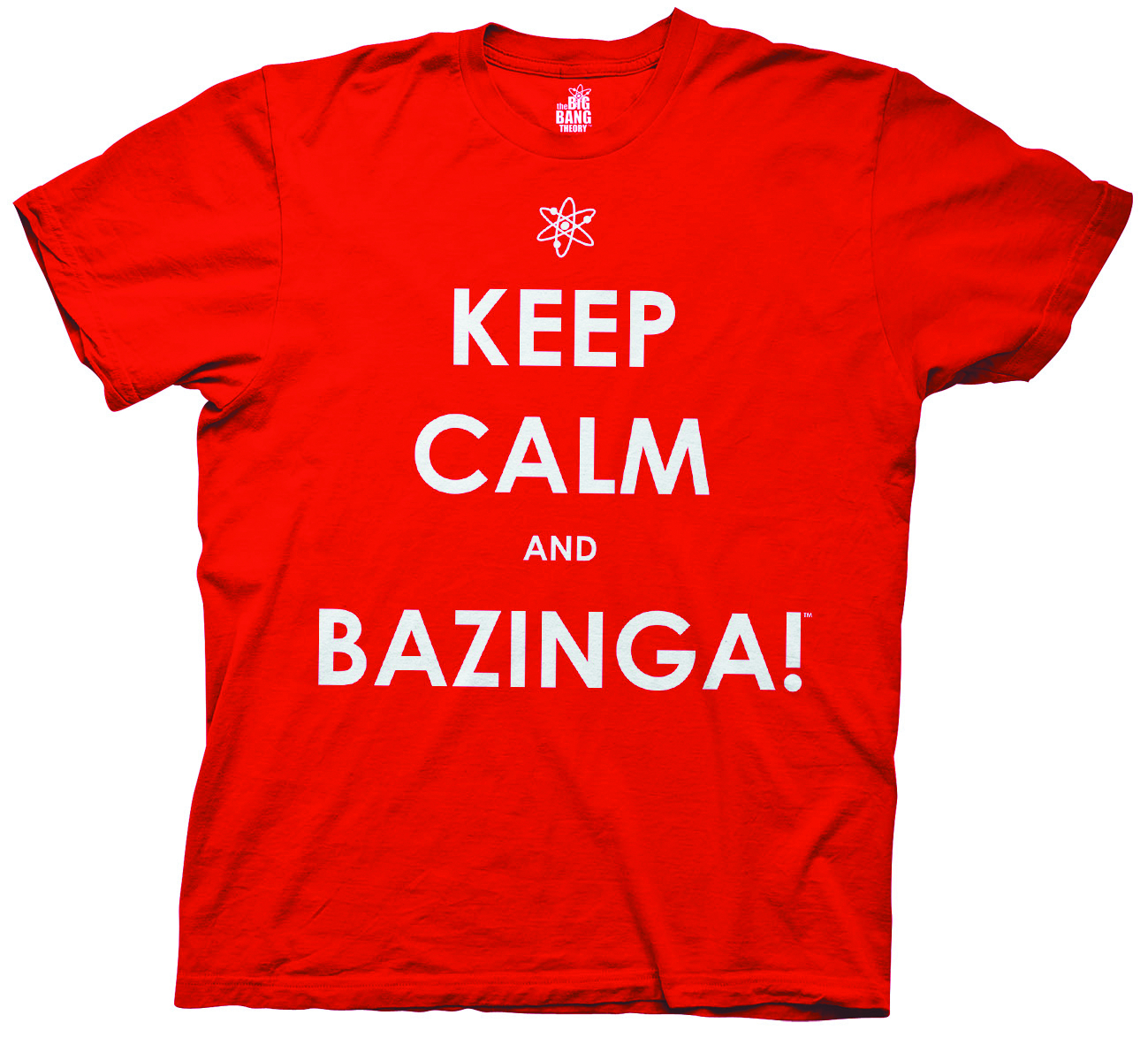 KEEP CALM BAZINGA RED T/S XL