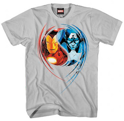 CAP & IRON MAN DUAL NATURE GREY PX T/S XL