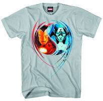 CAP & IRON MAN DUAL NATURE GREY PX T/S XXL