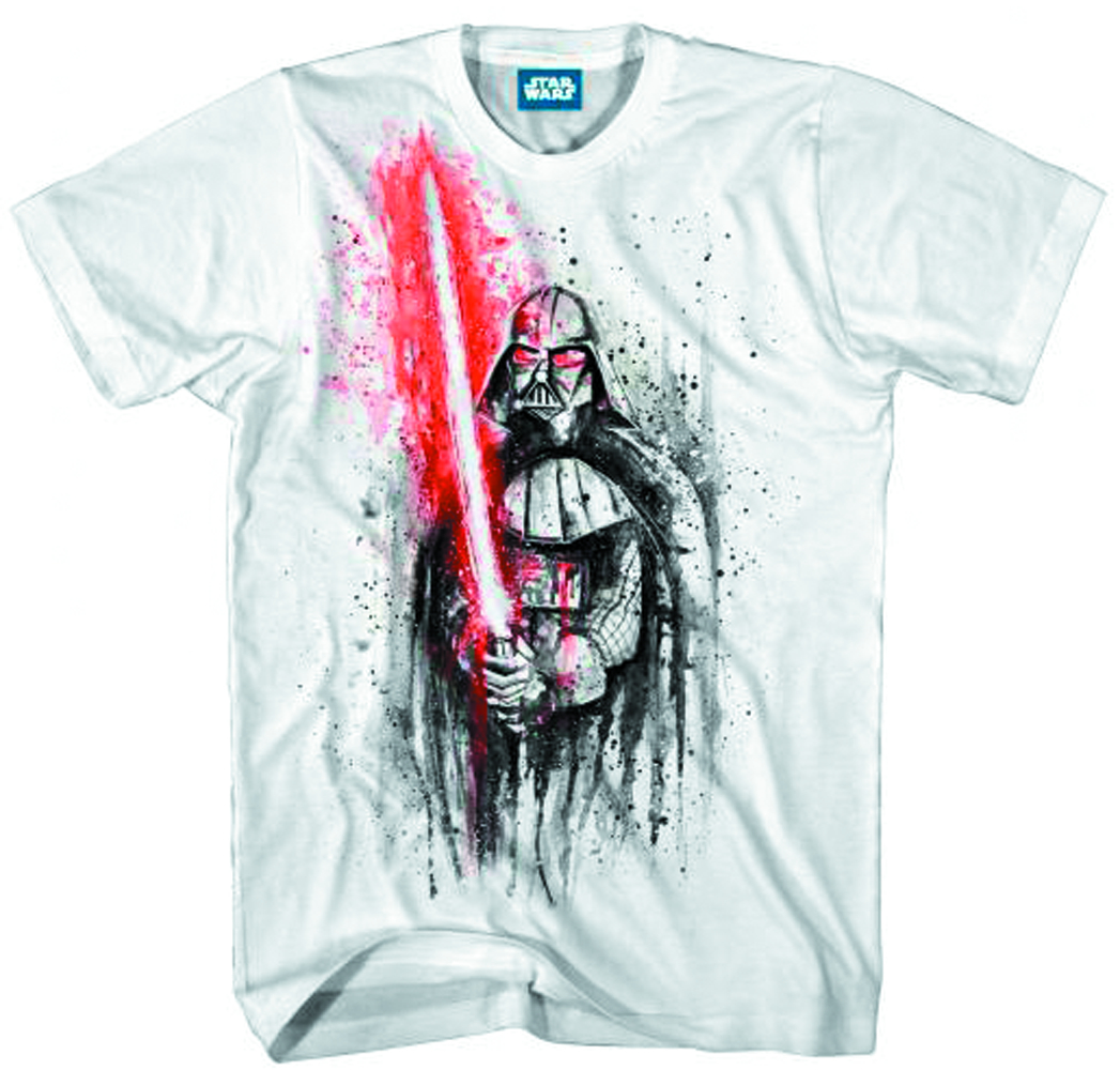SW DARTH VADER LAST STAND WHITE PX T/S LG