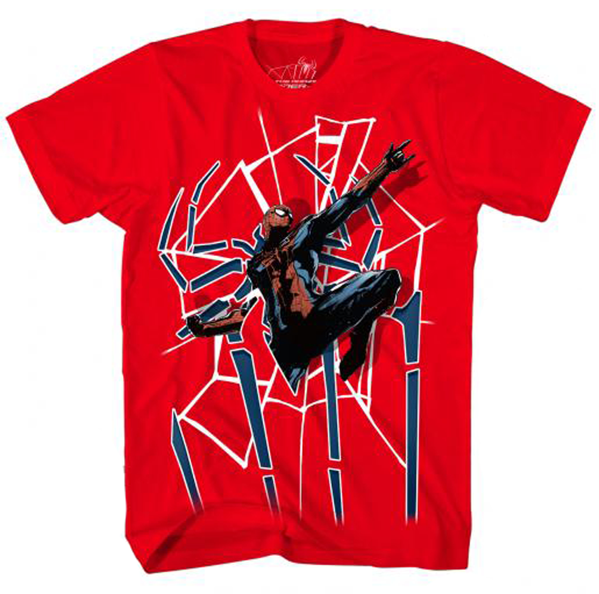 AMAZING SPIDER-MAN SPIDER DOOR RED T/S MED