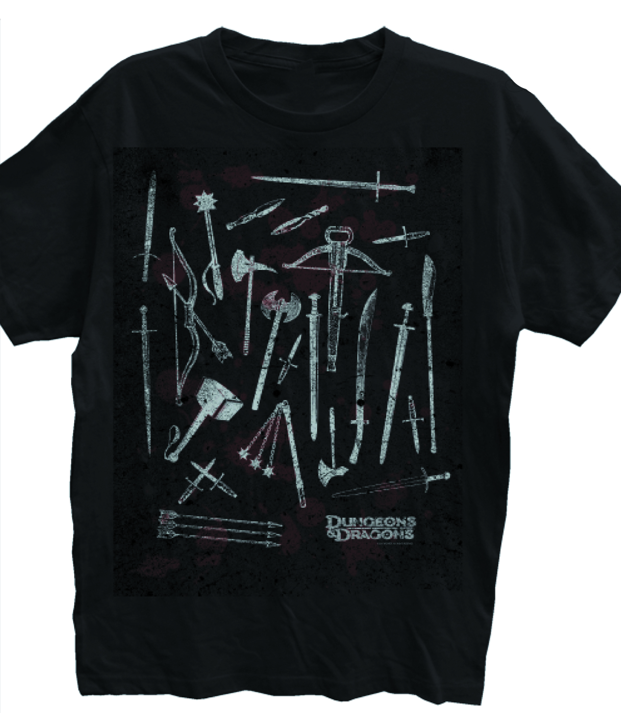 D&D CHOOSE YOUR WEAPON BLK T/S LG