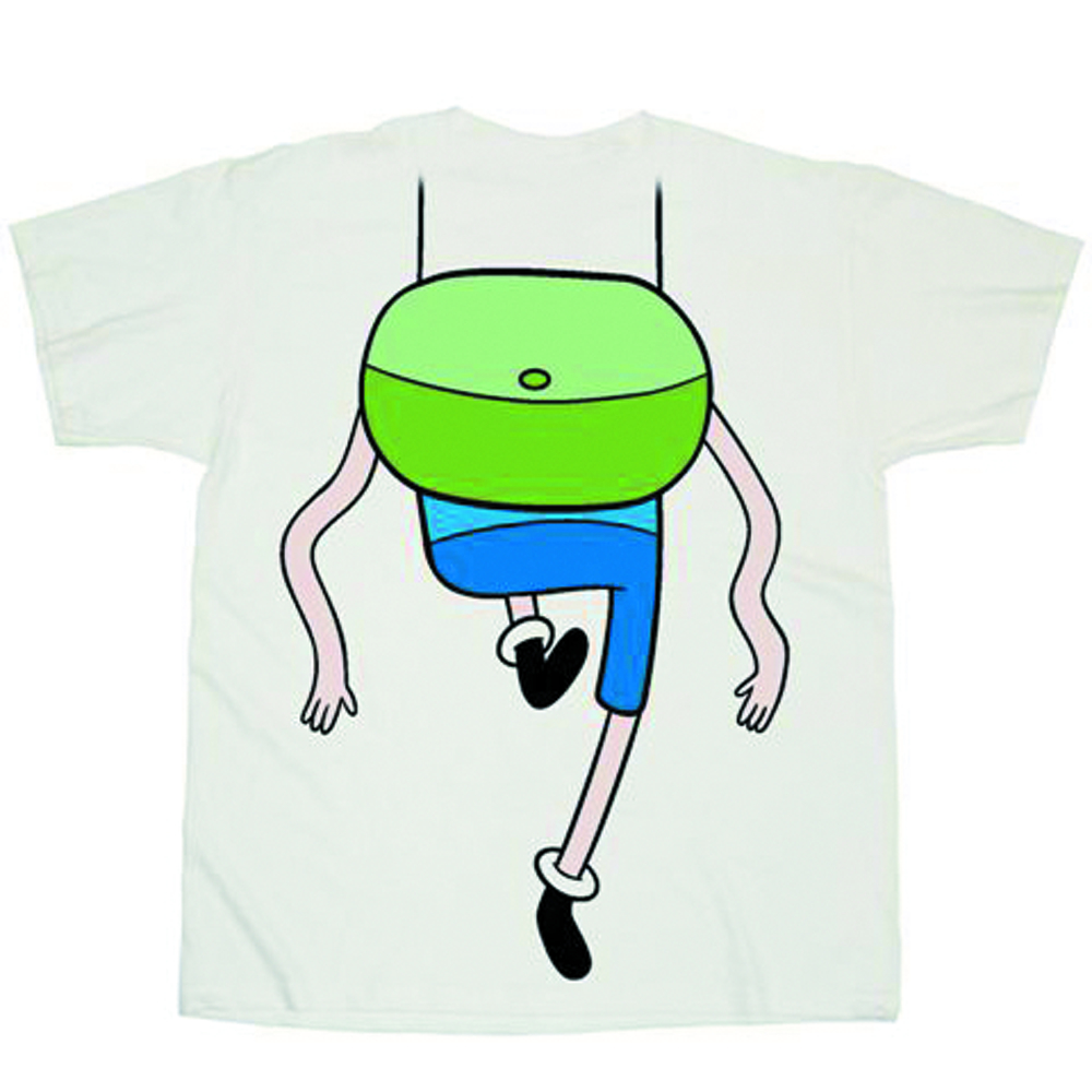 ADVENTURE TIME WIGGLY LEGS COSTUME WHITE PX T/S SM