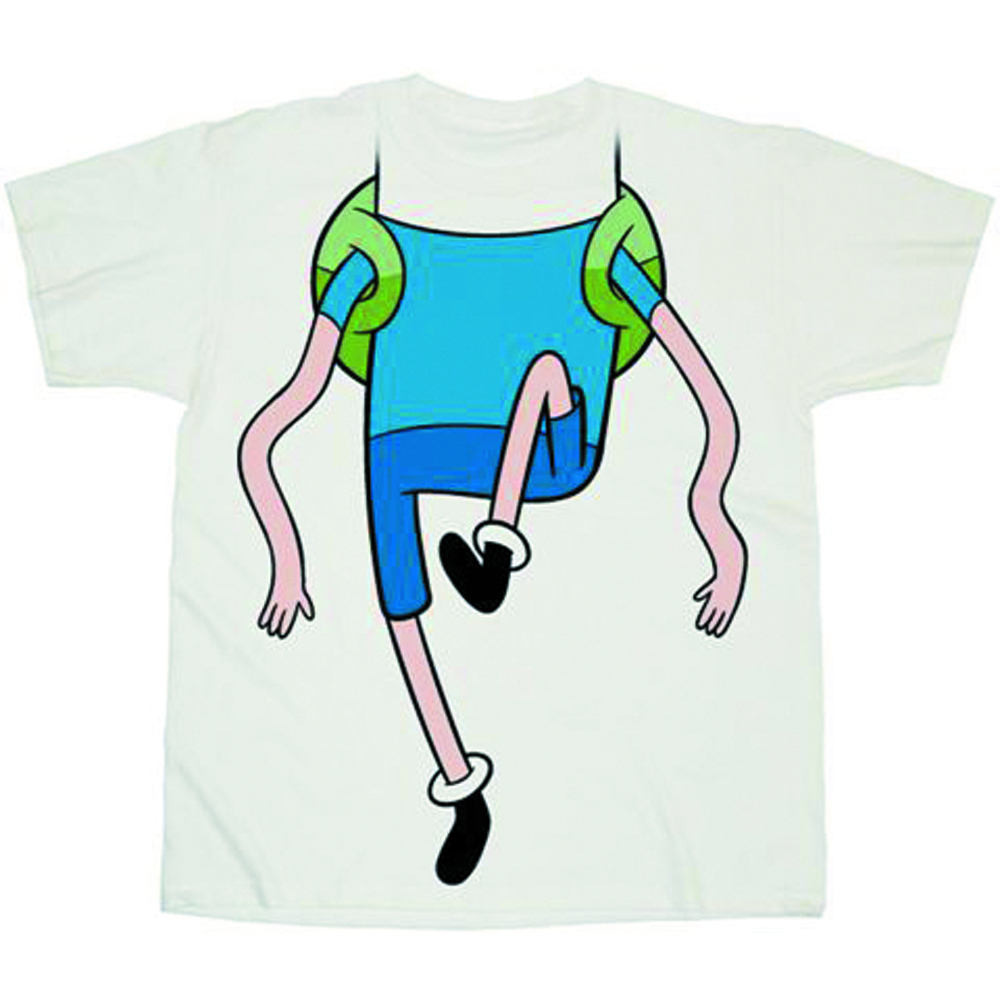 ADVENTURE TIME WIGGLY LEGS COSTUME WHITE PX T/S MED