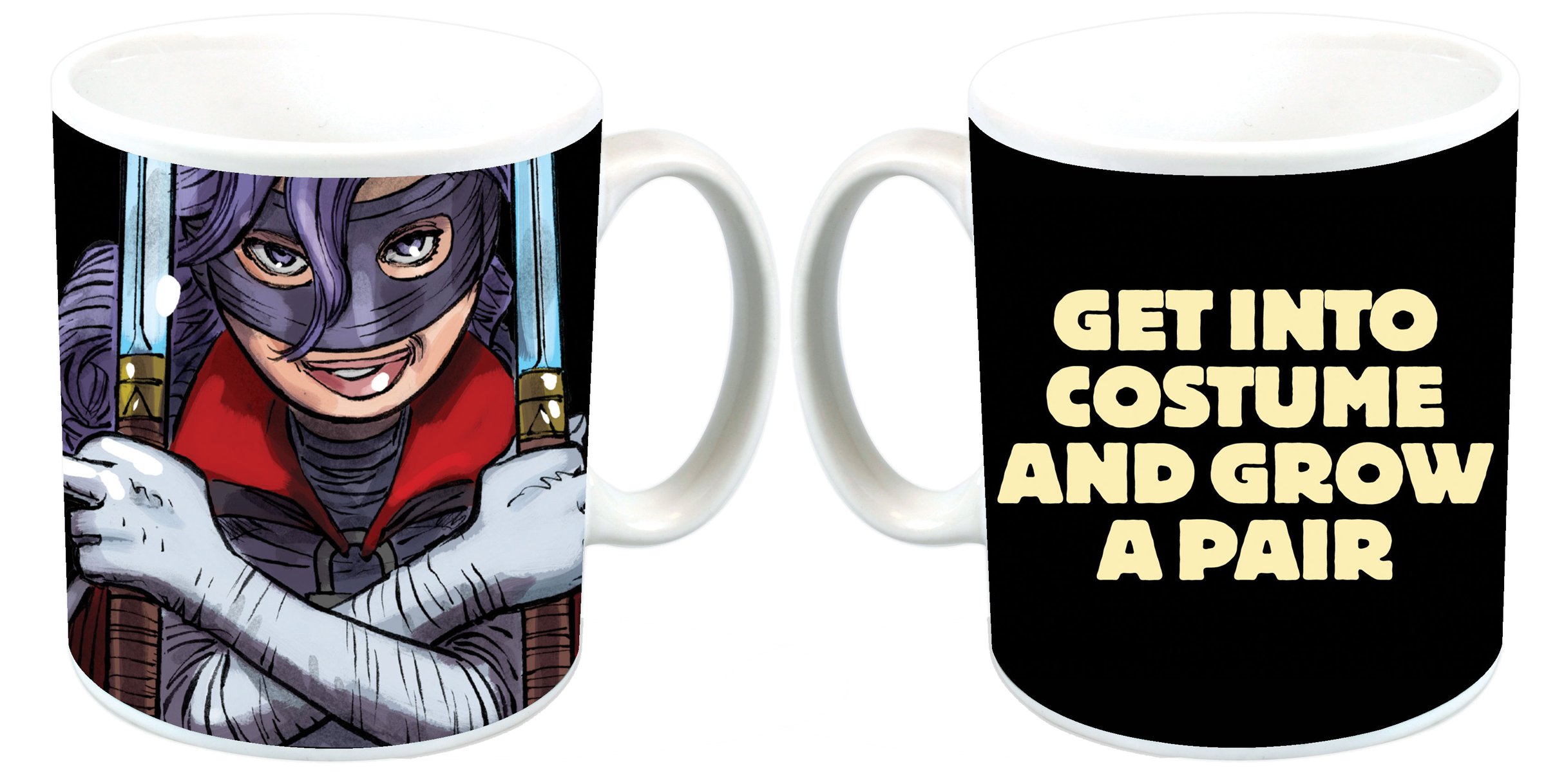 KICK-ASS GET INTO COSTUME GROW A PAIR MUG
