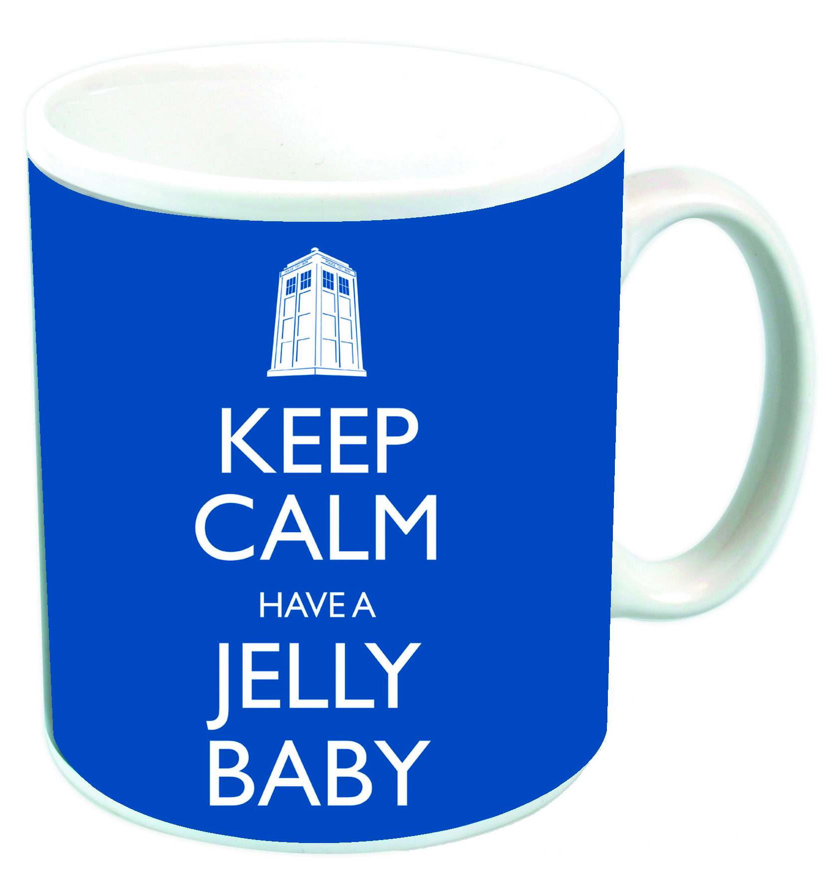 DOCTOR WHO KEEP CALM HAVE A JELLY BELLY MUG