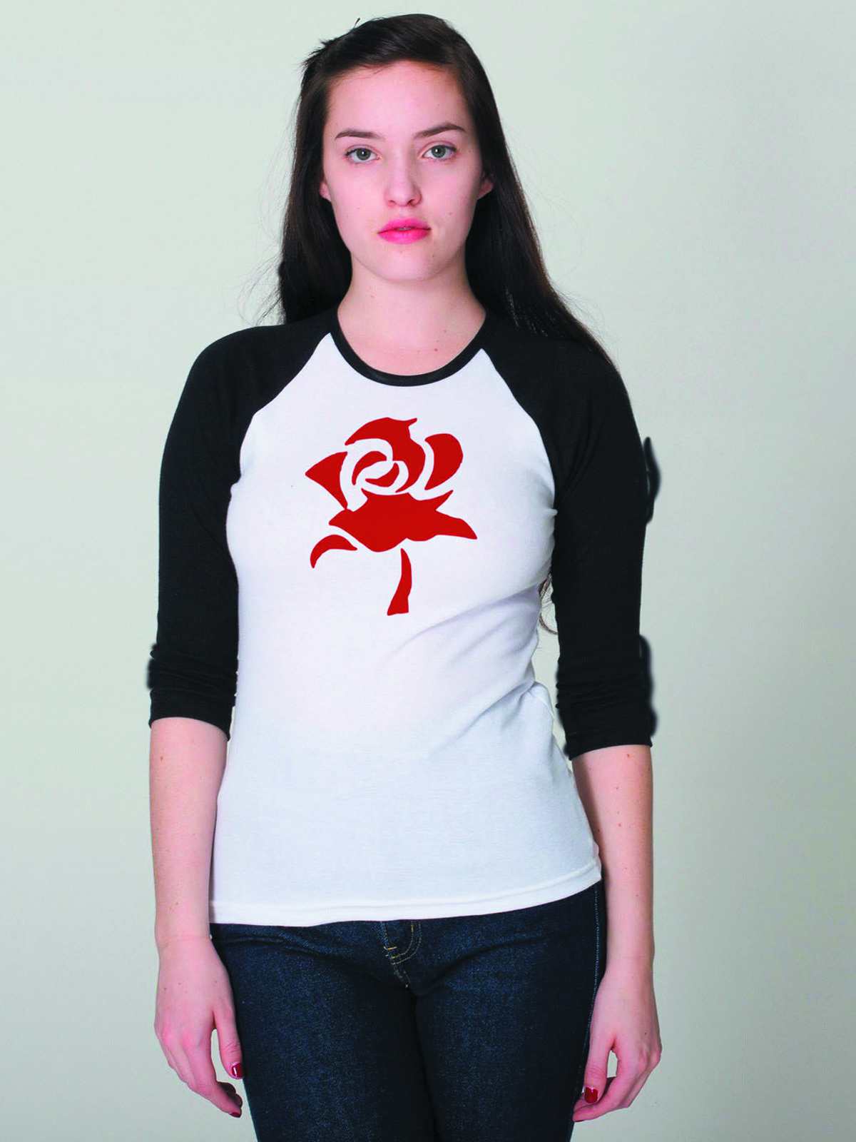 FABLES RED ROSE BASEBALL SHIRT MED
