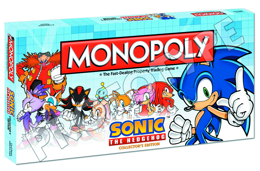 SONIC THE HEDGEHOG COLLECTORS ED MONOPOLY