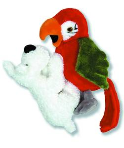 TINTIN PLUSH SNOWY AND PARROT