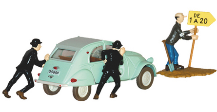 TINTIN TRANSPORTS THOMPSONS CITROEN #1