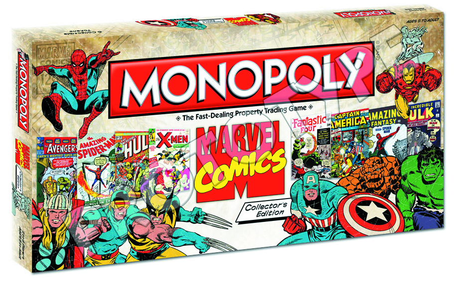 MARVEL COMICS COLLECTORS ED MONOPOLY