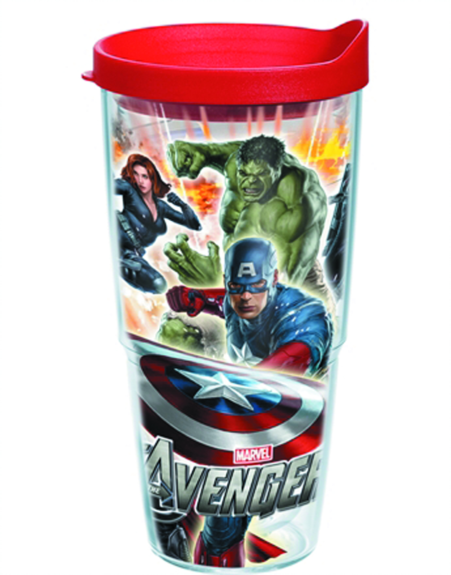 TERVIS MARVEL AVENGERS MOVIE 24OZ TUMBLER W/LID