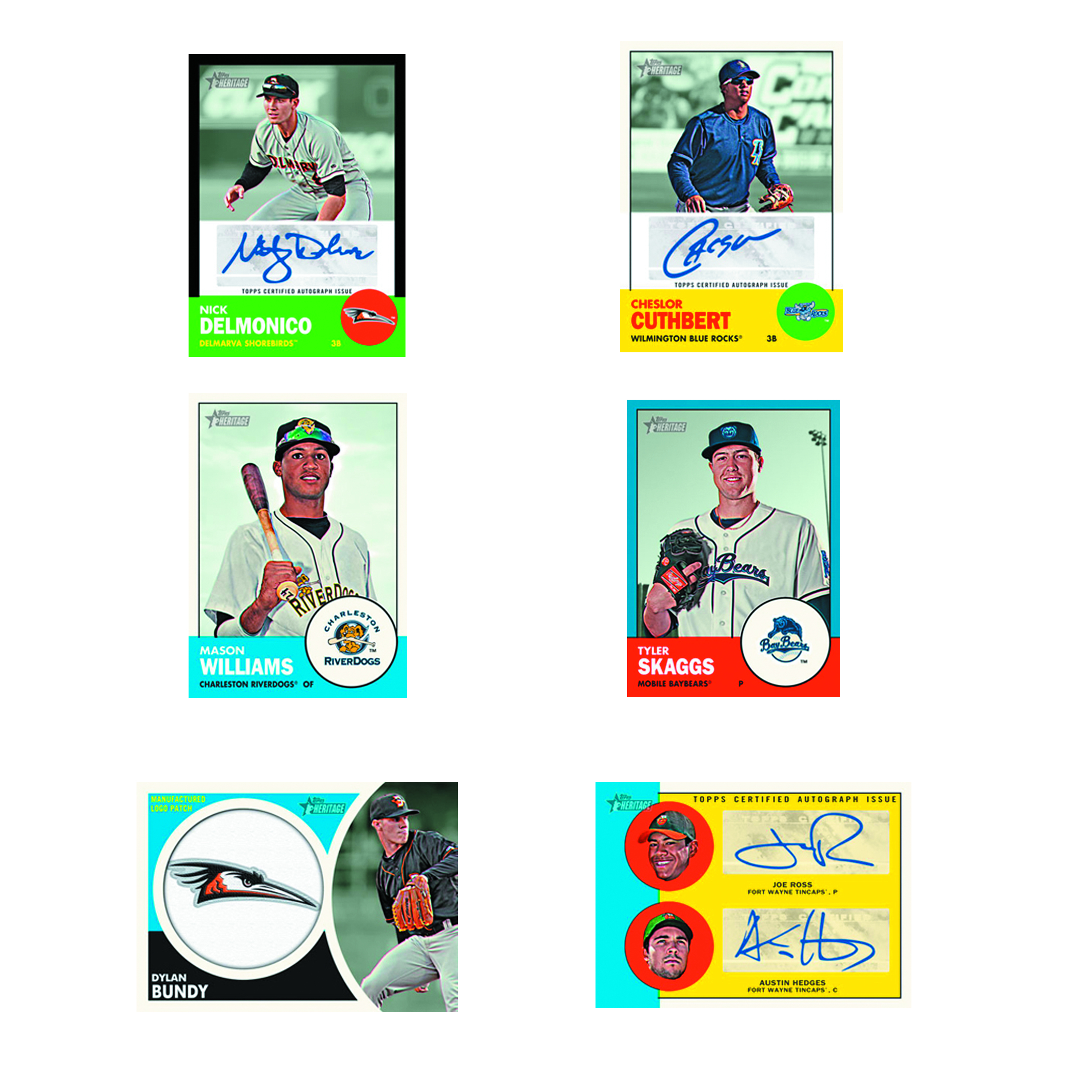 TOPPS 2012 HERITAGE MINOR LEAGUE BASEBALL T/C BOX