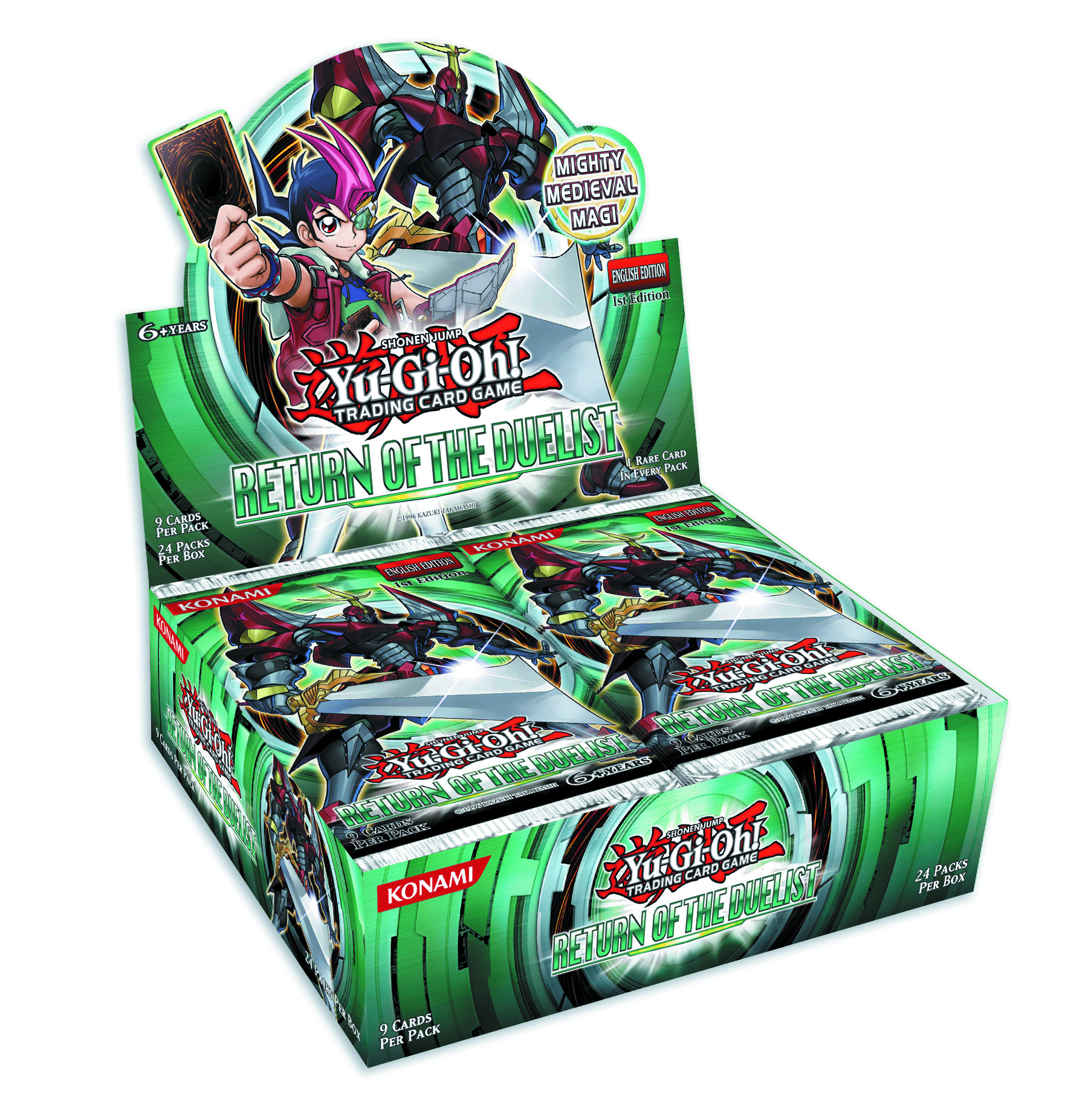 YU GI OH TCG RETURN OF THE DUELIST BOOSTER DIS