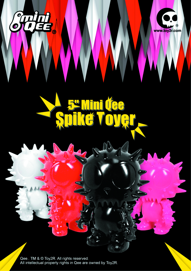 SPIKE TOYER DIY MINI QEE 5IN VINYL FIG RED VER
