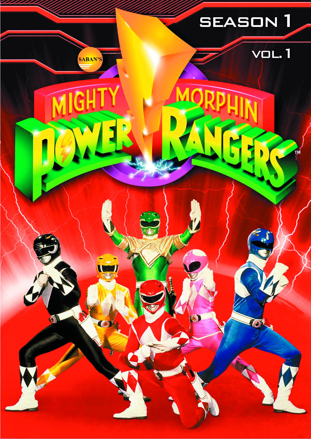 MIGHTY MORPHIN POWER RANGERS DVD SEA 01 VOL 1