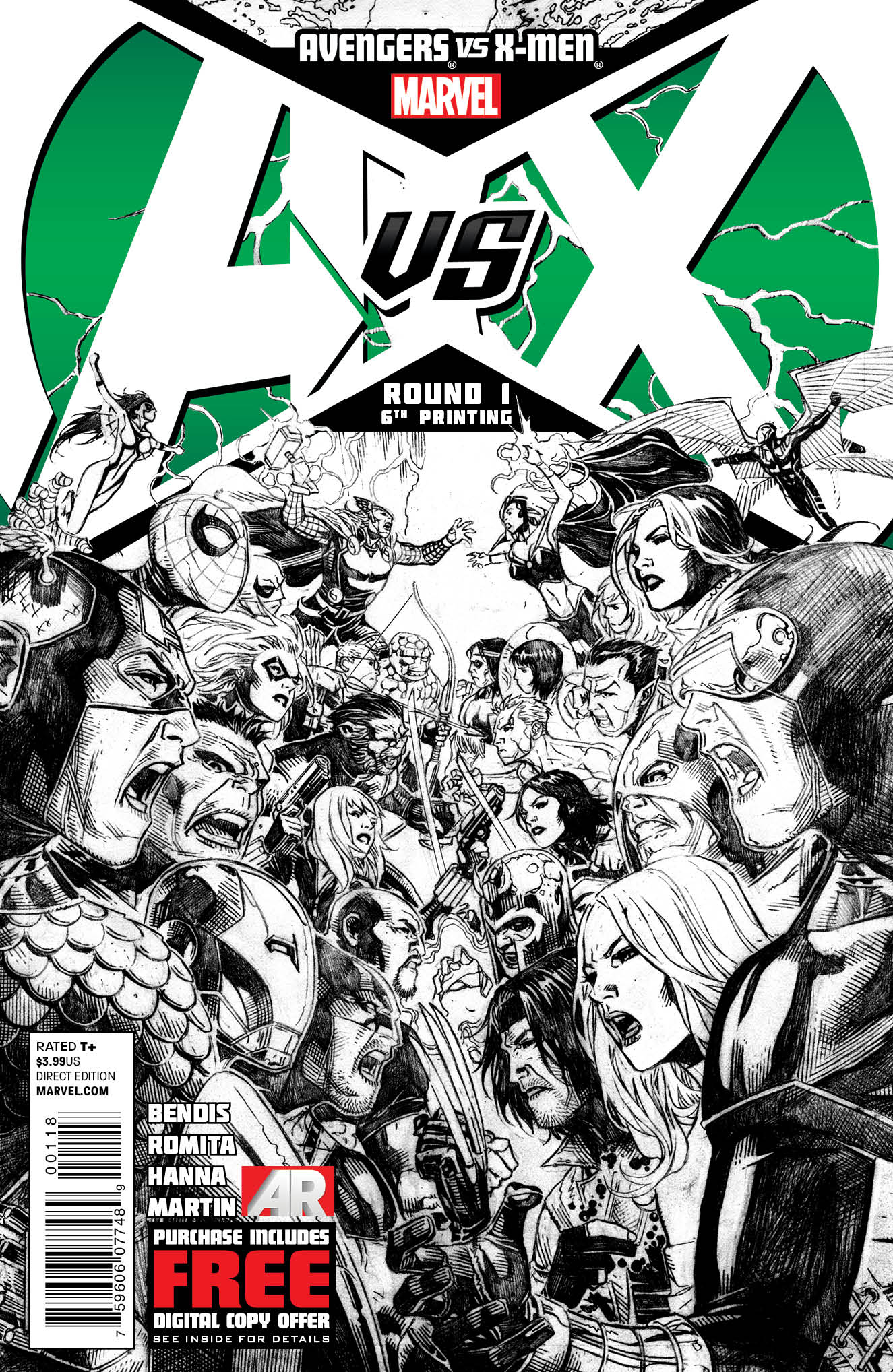 AVENGERS VS X-MEN #1 (OF 12) 6TH PTG CHEUNG VAR AVX