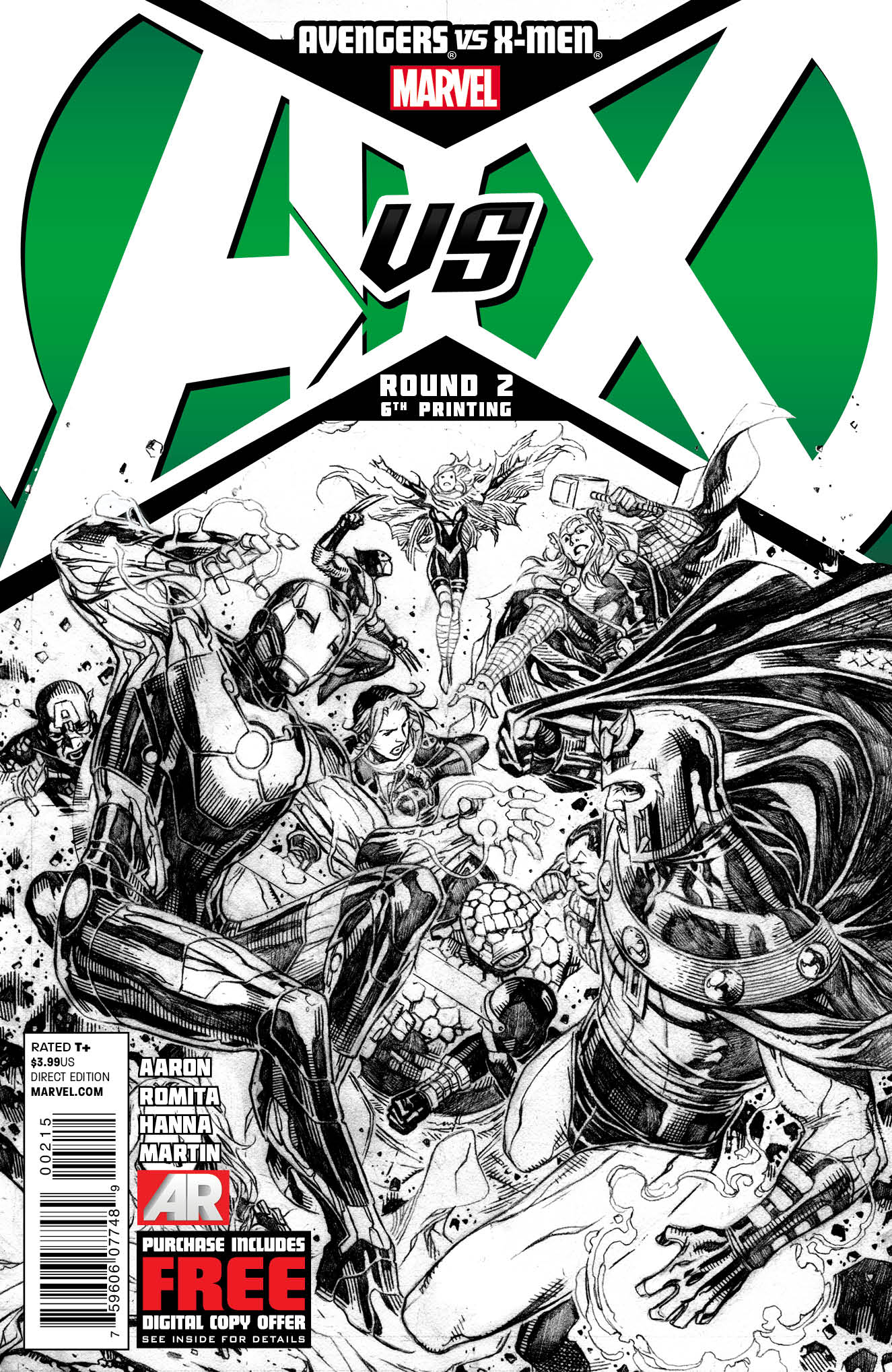 AVENGERS VS X-MEN #2 (OF 12) 6TH PTG CHEUNG VAR