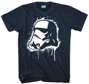 SW POP TROOPER PX NAVY T/S MED