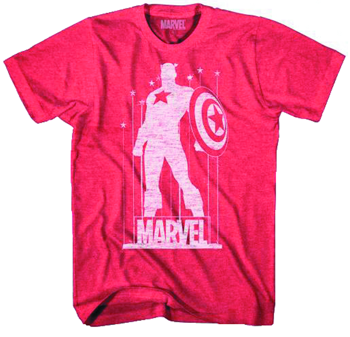 CAPTAIN AMERICA CAP STANCE RED HEATHER T/S LG