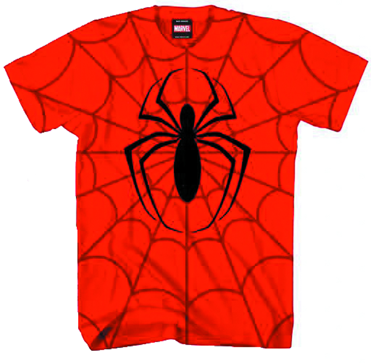 SPIDER-MAN COMBINE POWER AOP RED T/S XL