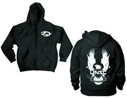 HALO 4 LARGE EAGLE PX ZIP HOODIE BLK XXL