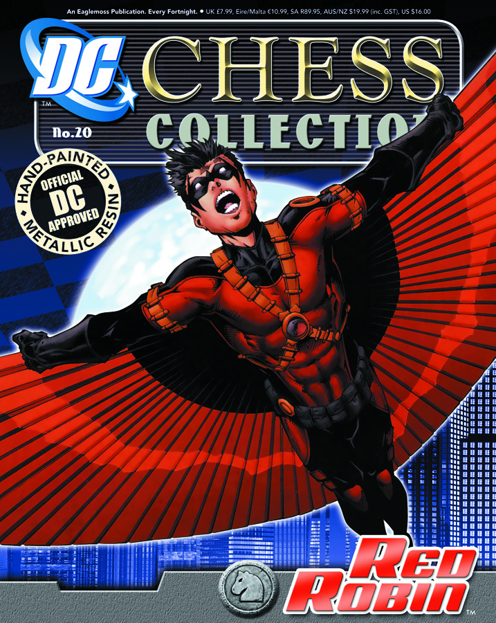 DC SUPERHERO CHESS FIG COLL MAG #20 RED ROBIN WHITE KNIGHT