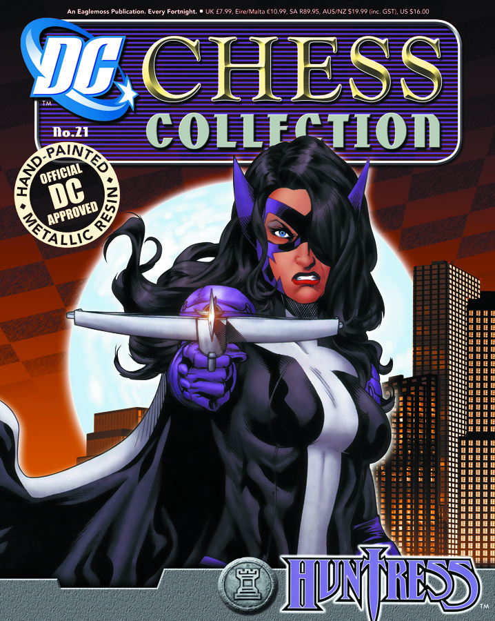 DC SUPERHERO CHESS FIG COLL MAG #21 HUNTRESS WHITE ROOK