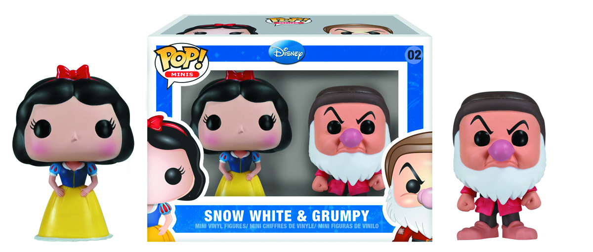 MINI POP SNOW WHITE AND GRUMPY VINYL FIG 2PK
