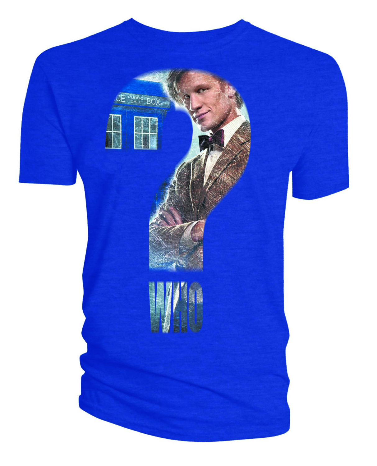 DOCTOR WHO QUESTION MARK BLUE T/S LG