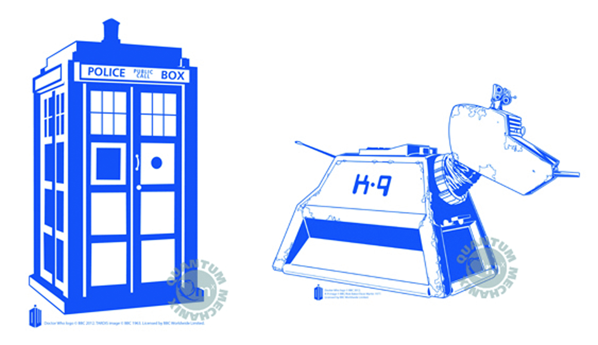 DOCTOR WHO 6-PC VINYL STICKER SET #1