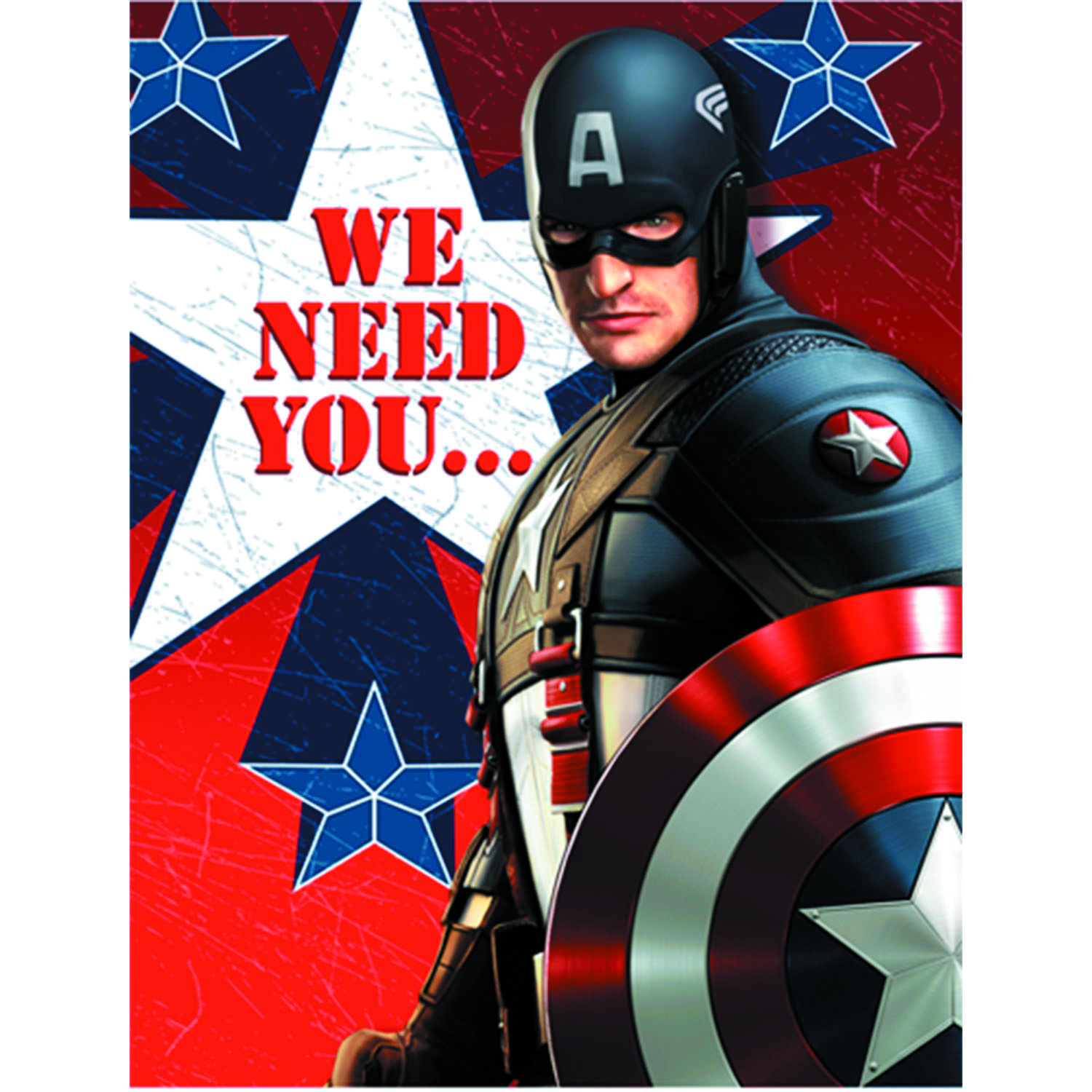 CAPTAIN AMERICA PARTY INVITATIONS 8PK