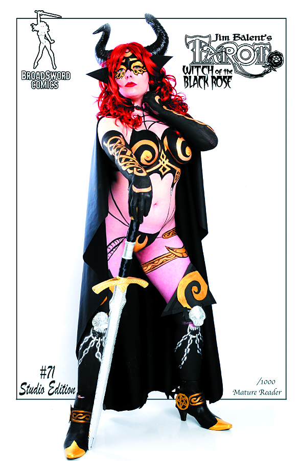 TAROT WITCH OF THE BLACK ROSE #71 S/N PHOTO COVER (MR)