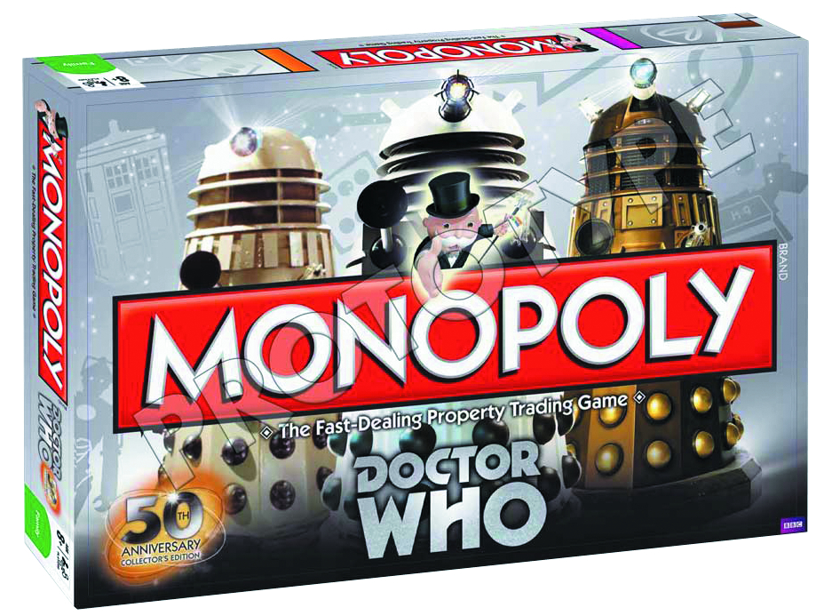 DOCTOR WHO 50TH ANNIVERSARY ED MONOPOLY