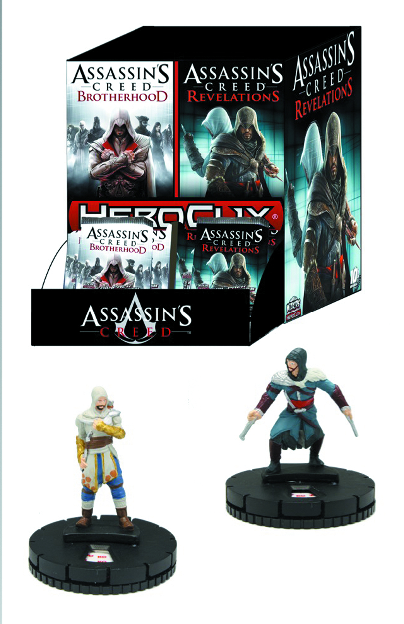 ASSASSINS CREED HEROCLIX BROTHERHOOD 24 CT GRAVITY FEED DS