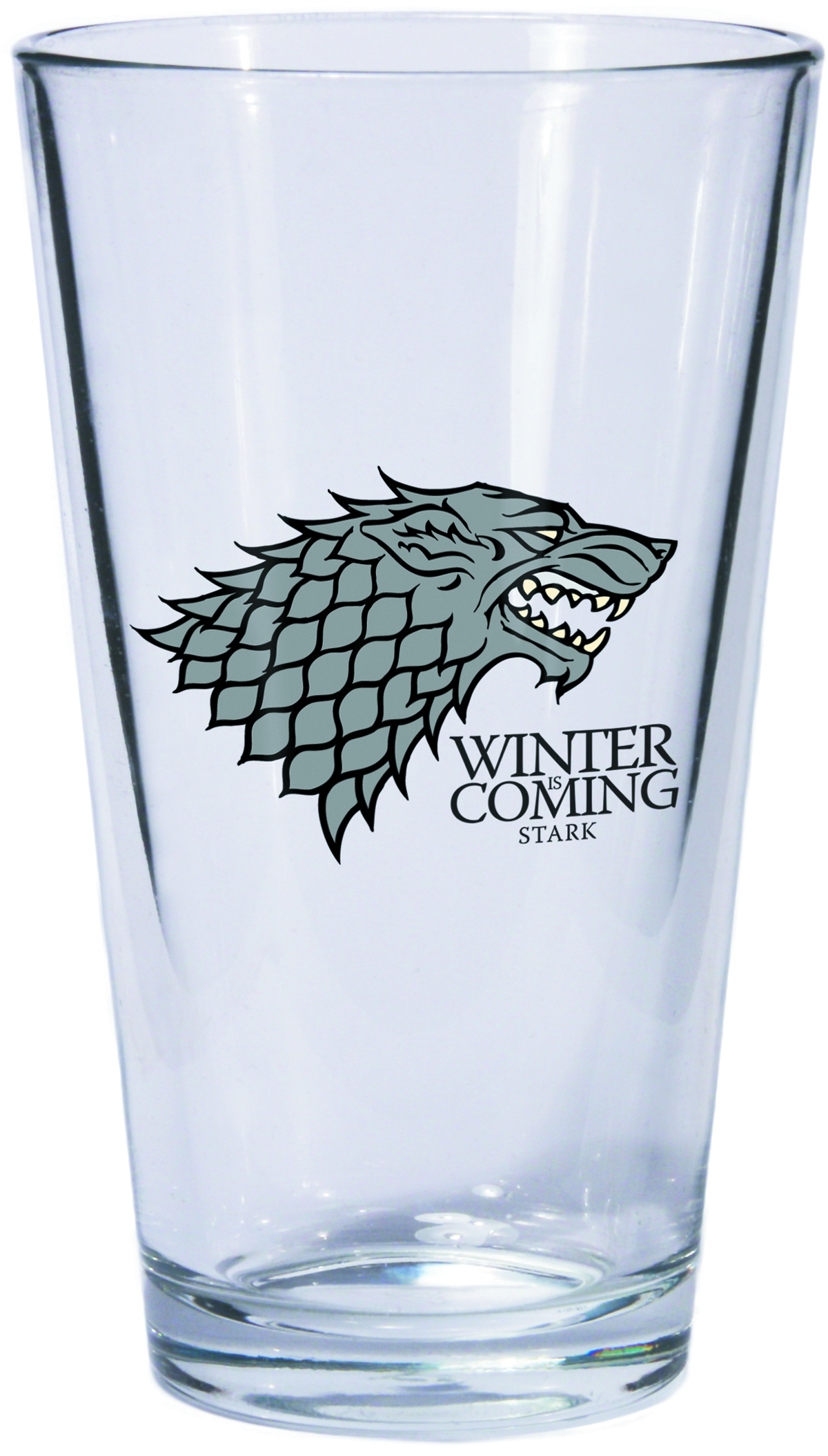 GAME OF THRONES PINT GLASS STARK SIGIL