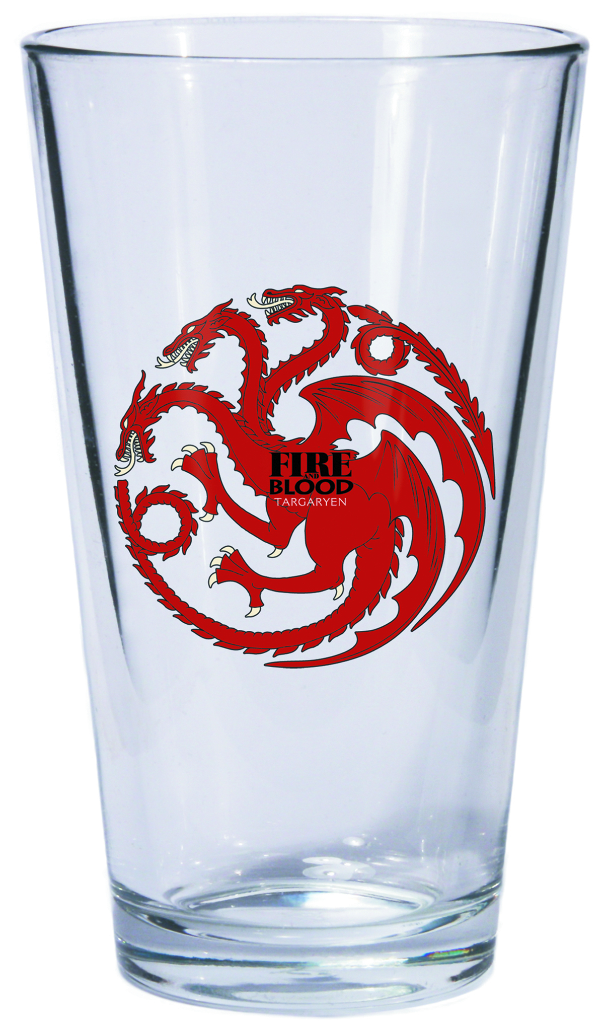 GAME OF THRONES PINT GLASS TARGARYEN SIGIL