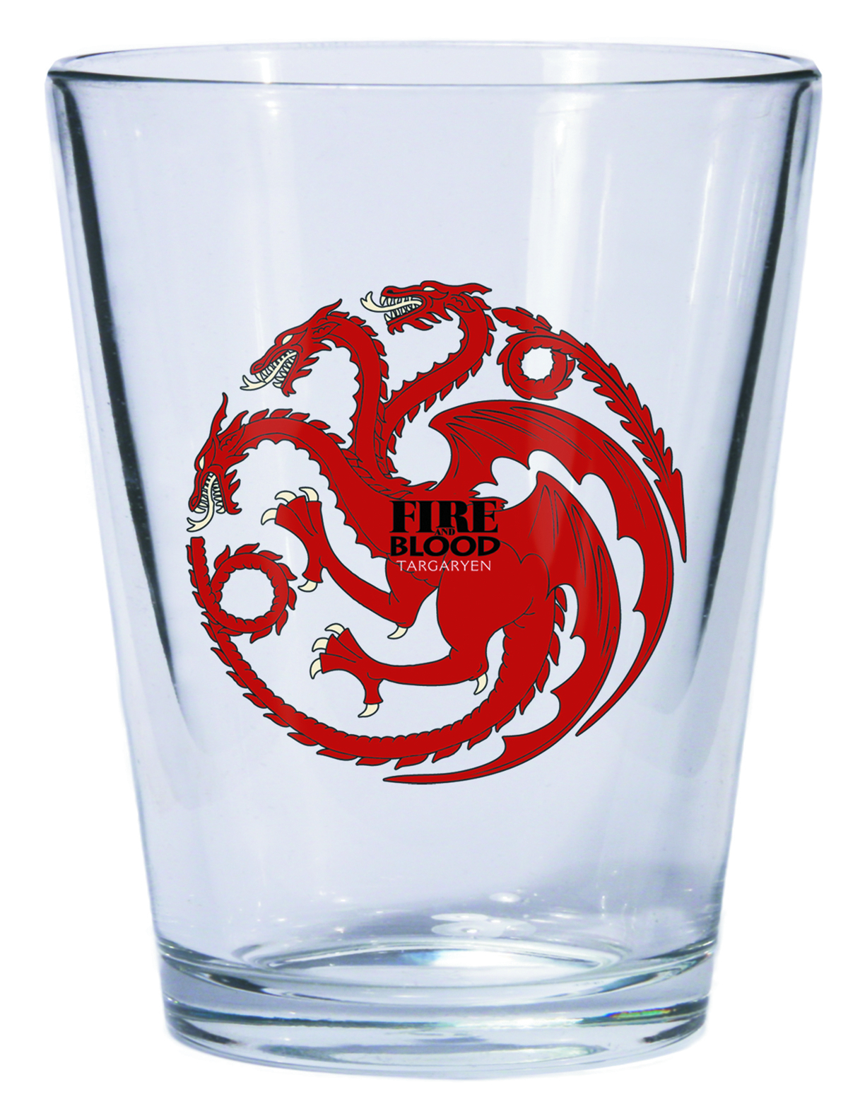 GAME OF THRONES SHOT GLASS TARGARYEN SIGIL
