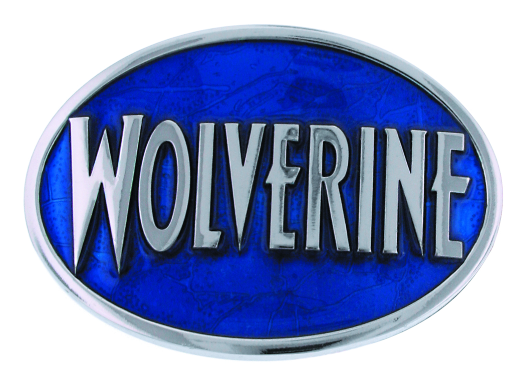 WOLVERINE LOGO OVAL BELT BUCKLE