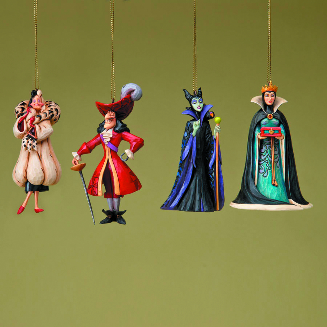 Sep122048 Disney Trad Villain Ornament Set Previews World