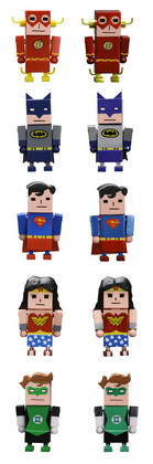 JUSTICE LEAGUE X KOREJANAI MINI FIG 10PC DS