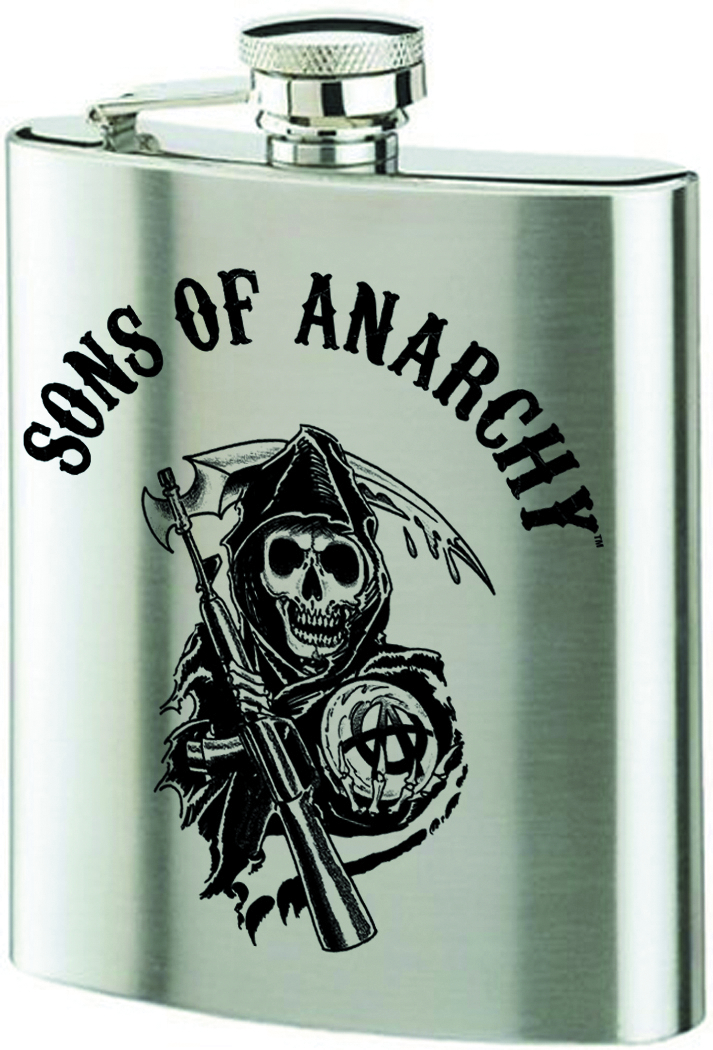 SONS OF ANARCHY REAPER LOGO FLASK