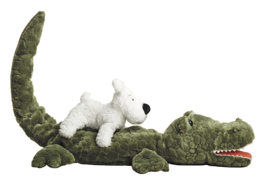 TINTIN PLUSH SNOWY AND CROCODILE