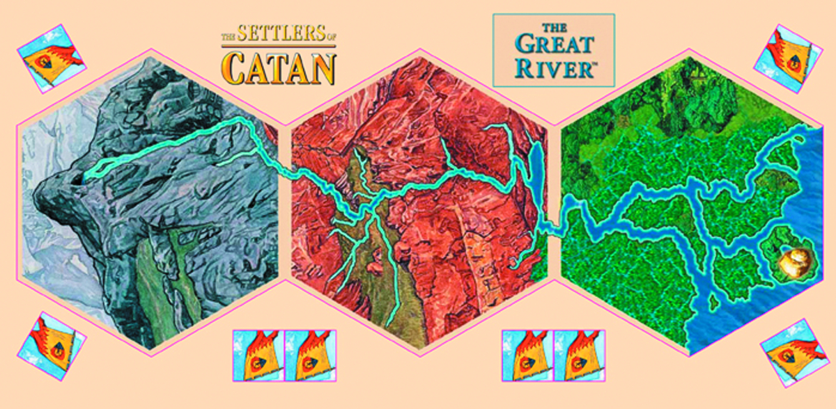 SETTLERS OF CATAN THE GREAT RIVER EXP PACK