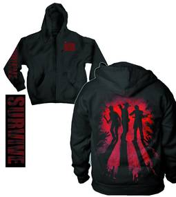 WALKING DEAD SURVIVE SILHOUETTE PX ZIP HOODIE MED