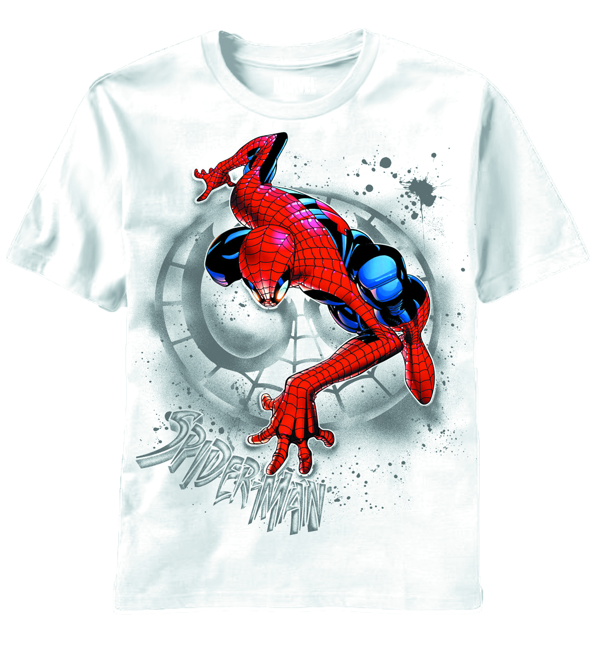 SPIDER-MAN SEARCH THE WALL WHT T/S XL