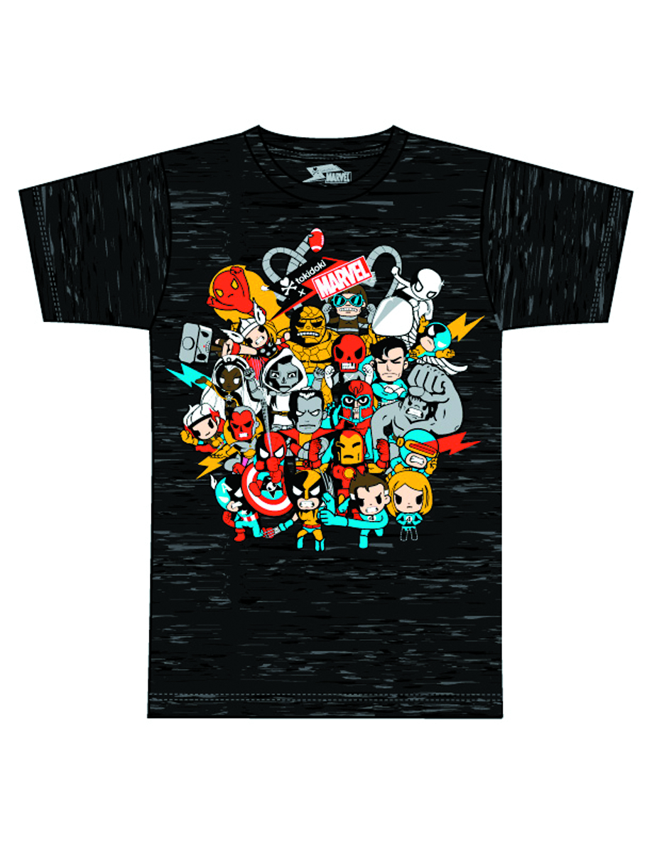 MARVEL X TOKIDOKI SUPERSTARS T/S XL